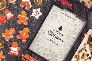 Christmas A4 Paper Mock-up #7