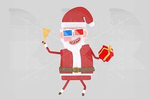 Santa Claus with 3d glasses