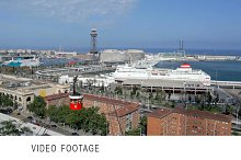 Barcelona traffic timelapse cableway