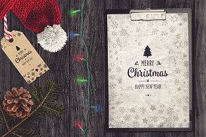 Christmas A4 Paper Mock-up #8