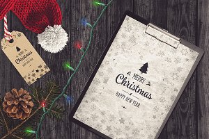 Christmas A4 Paper Mock-up #9