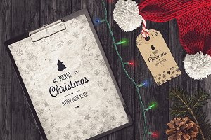 Christmas A4 Paper Mock-up #10