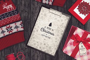 Christmas A4 Paper Mock-up #2