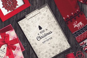Christmas A4 Paper Mock-up #3