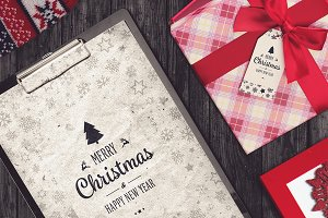 Christmas A4 Paper Mock-up #5