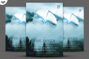 PURE OXYGEN Flyer Template