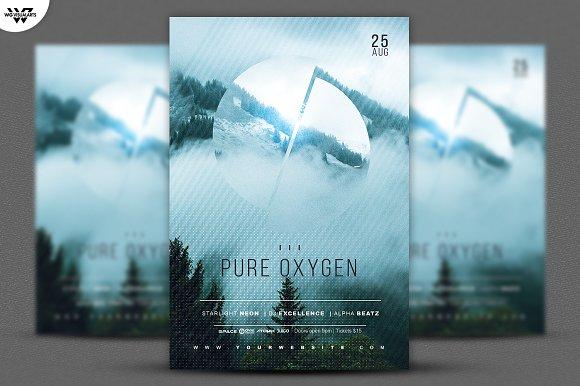 PURE OXYGEN Flyer Template