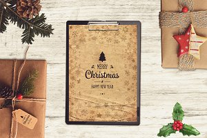 Christmas A4 Paper Mock-up #11