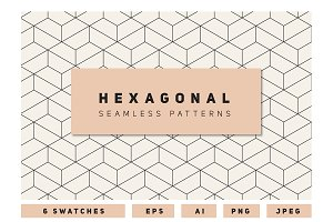 Hexagonal Seamless Patterns Set 2