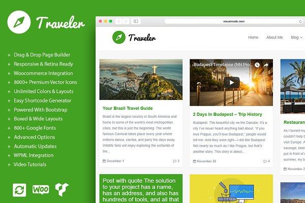 Traveler - Blog WordPress Theme