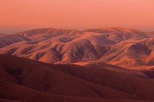 Mars looking sunset in Fuerteventura mountains
