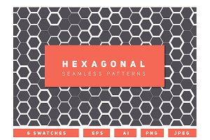 Hexagonal Seamless Patterns Set 1