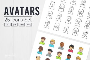 User Avatar Icon Set