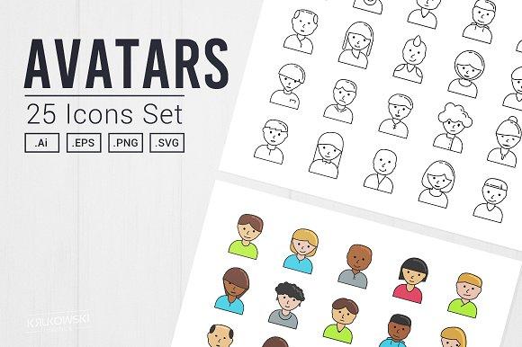 User Avatar Icon Set