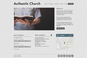 Authentic Church - WordPress Theme