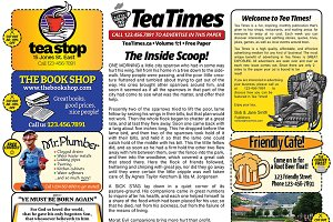 2 Page Newspaper Template