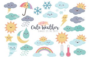 Kawaii Weather Clipart