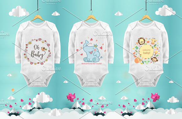 Baby Body Mockups, psd, jpg-Graphicriver中文最全的素材分享平台