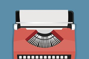 Retro Typewriter Machine Icon