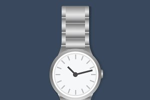 Wristwatch accessory vector
