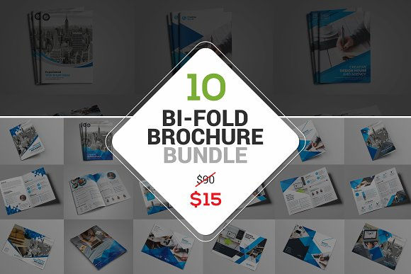 10 The Bi-Fold Brochure-Graphicriver中文最全的素材分享平台