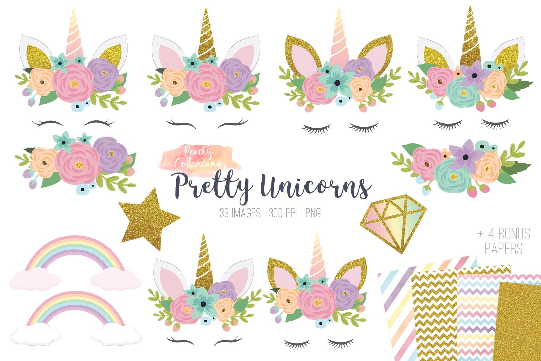 Pretty Unicorn Clipart