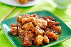 chinese orange chicken meal