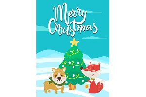 Merry Christmas Poster Congratulation from Fox
