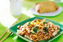 chinese food - chicken lo mein