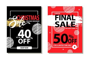 Christmas Sale Holiday Discount Final Prices 50 %