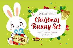 Christmas Bunny set