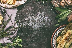 Rustic food meals dinner