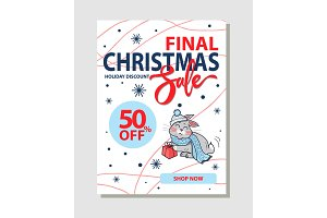 Final Christmas Sale 50% Off Promo Poster Shop Now