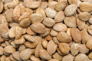 Background of the laid almond.