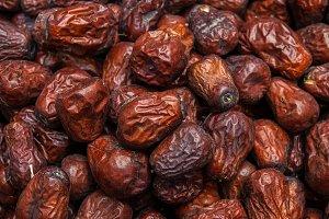 Close up raw organic medjool dates ready to ea