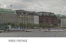 Hamburg, Germany. Elbe river.
