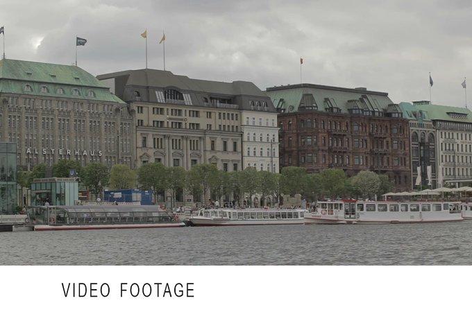 Hamburg, Germany. Elbe river. - Transportation