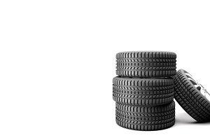 Tire 3D Photo Blank Area