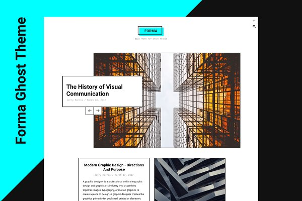 Ghost Themes: Just Good Themes - Forma - Bold Masonry Theme For Ghost