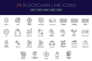 Bitcoin & Cryptocurrency Line Icons