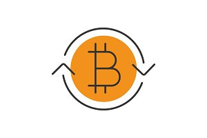 Bitcoin exchange color icon