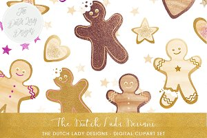 Gingerbread Man Christmas Cookie Set