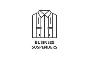 business suspenders line icon, outline sign, linear symbol, vector, flat illustration