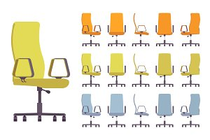 Office chair interior set