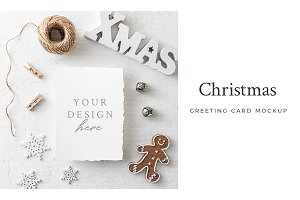 Christmas Greeting Card Mockup