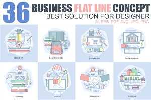 Business Flat Concepts Design