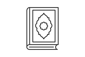 Quran book linear icon