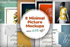 [-64%] 8 Minimal Picture Mockups