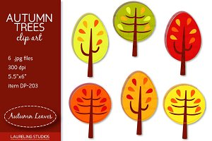 Autumn Trees clip art