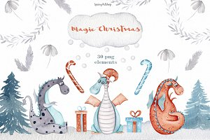 Christmas magic Winter Dragons